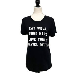 Wildfox Printed Cotton Short Sleeve T Love Live